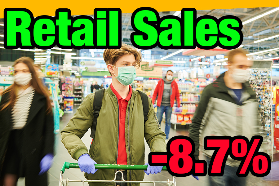 Advance Retail Sales, Industrial Production, and Jobless Claims [Covid-19 Impact]